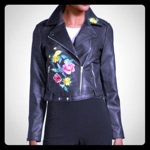 Jackets & Blazers - FreeGeneration faux leather embroidery jacket ( M)